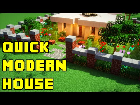 Minecraft: Quick and Easy Modern House Build Tutorial Xbox/PE/PC/PS3/PS4