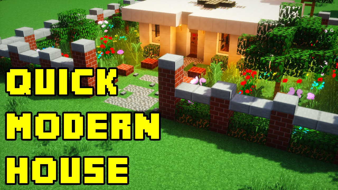 minecraft quick and easy modern house build tutorial xboxpepcps3ps4 youtube