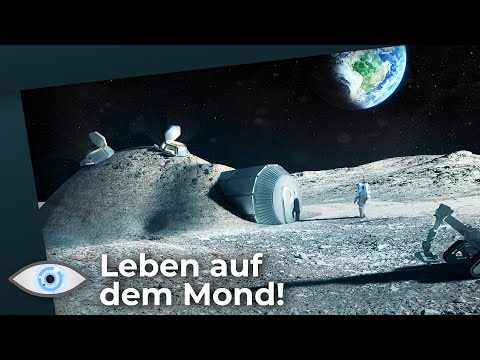 Mondbasis - Bald leben Menschen auf dem Mond!