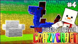 KILLING BOSSES, BAKI AND RARE FINDS - Minecraft: Youtuber Survivor! #4 (Crazy Craft 3.0 SMP)