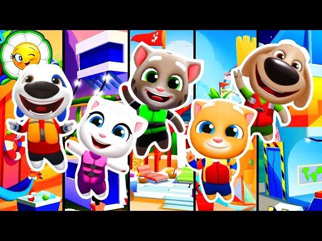 Аквабайк Говорящего Тома 2 #8  Большая стройка! Домики Тома и его друзей! На весь экран