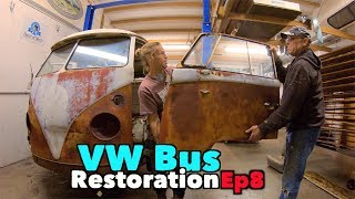 VW BUS Restoration - Episode 8 - Metal Madness! | MicBergsma