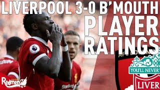 Mane Gets a 9! | Liverpool v Bournemouth 3-0 | Player Ratings