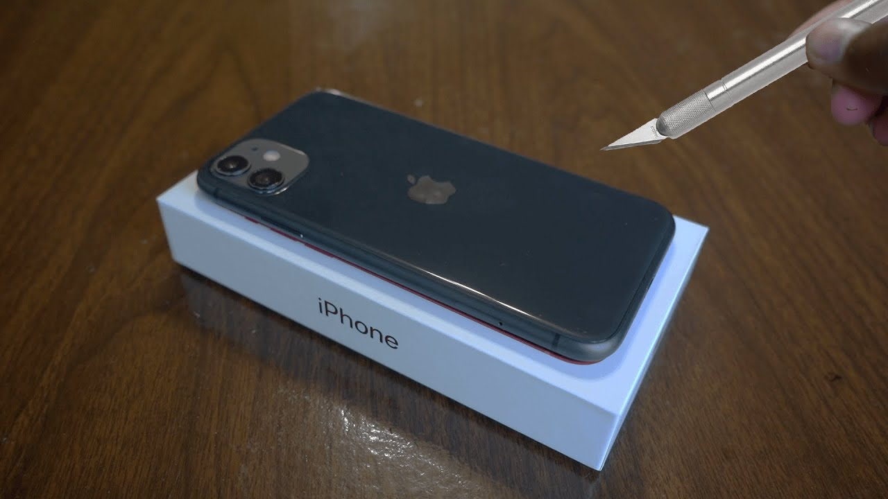 iPhone 11 Unboxing Black - ASMR