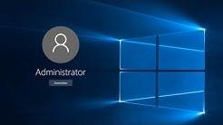 Windows Administrator Konto aktivieren und deaktivieren