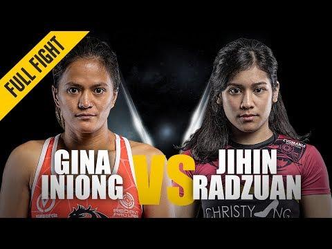 ONE: Full Fight | Gina Iniong vs. Jihin Radzuan | Close Call | February 2019