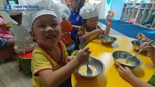 Mầm non Phần Lan | Bé tập làm bánh, tiết học cho bé trải nghiệm đầy bổ ích