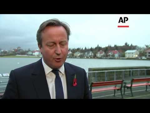 UK PM in Iceland, comments on EU relations