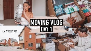 PACKING UP OUR ENTIRE LIFE, MORE SHOPPING & A HOMEWARE HAUL! · MOVING VLOG Day 1 | Emily Philpott