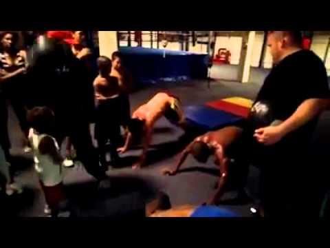 Pound 4 Pound TV: Trainer Ann Wolfe throws medicine balls at her fighters!!!!