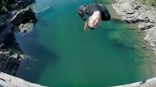 Cliff Jumping In Glacier National Park