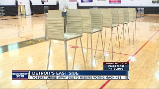 Voters turned away due to missing voting machines at precinct in Detroit