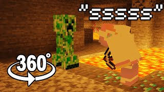 360° POV: You're a Diamond Ore and Watch Me Die to a Creeper and Lava