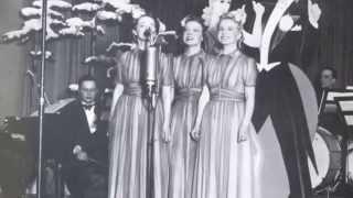 KUUTAMO MERELLÄ,  Harmony Sisters ja Dallapé-orkesteri v.1938