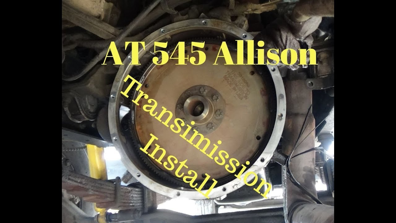 Installing A AT 545 Allison Transmission on a 1999 Ford F800 With 5 9  Cummins