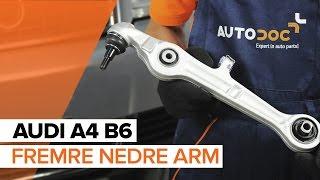 Skifte Bærebro bak og foran AUDI A4 (8E2, B6) - videoopplæring