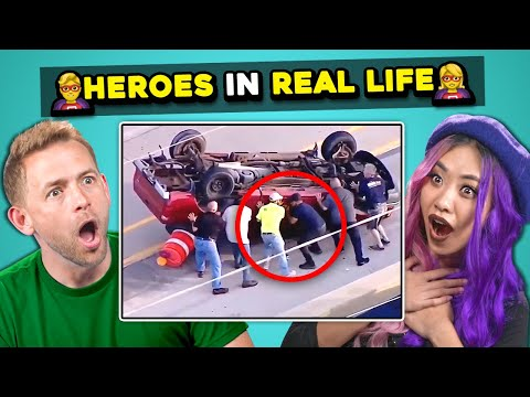 Adults React To 10 REAL LIFE HEROES  Compilation (Faith In Humanity Restored)
