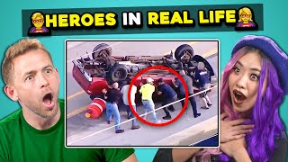 Baixar Adults React To 10 REAL LIFE HEROES  Compilation (Faith In Humanity Restored)