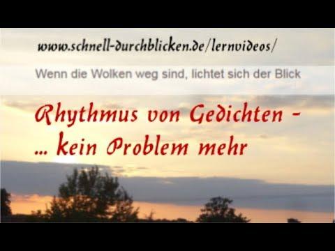 Rhythmus Im Gedicht So Einfach Erkennt Man Ihn