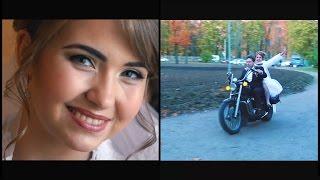 На мотоцикле жених и невеста . Это Красиво! :)