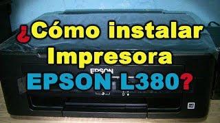 Cómo instalar Impresora EPSON L380