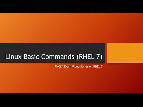 Basic commands RHEL 7