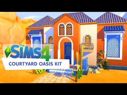 The Sims 4 Courtyard Oasis Kit Speed Build |