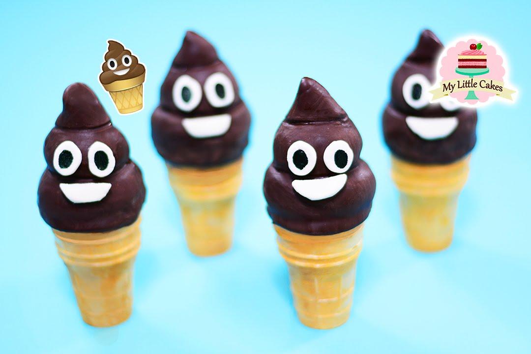 Poop Emoji Ice Cream Cake Pops My Little Cakes Youtube