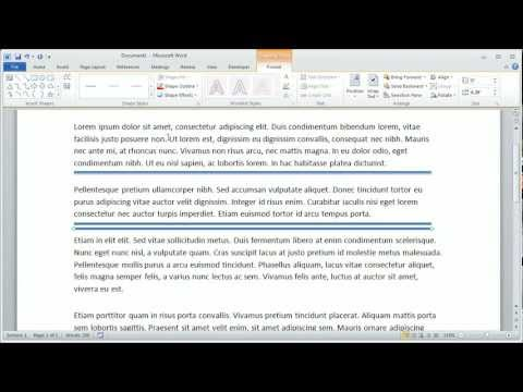 how to put a document horizontal in word