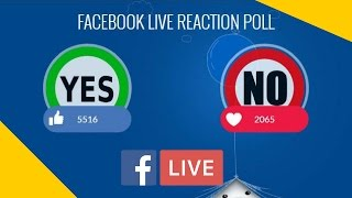How  to create live reaction poll in facebook