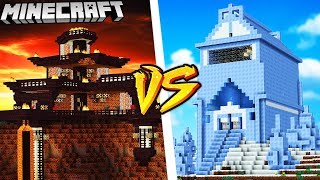 DOM Z MAGMY VS DOM Z LODU - MINECRAFT | VITO vs GPLAY