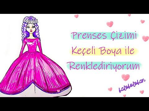 Keceli Kalemle Prenses Boyama Youtube