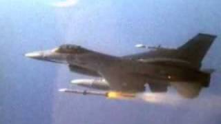 F-16's Firing Missiles & Dropping Bombs