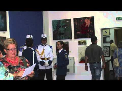 """L'oeuvre """"Waiting for tango"""" de Mélanie Poirier présentée au Musée de la Marine Roumaine en 2012"""