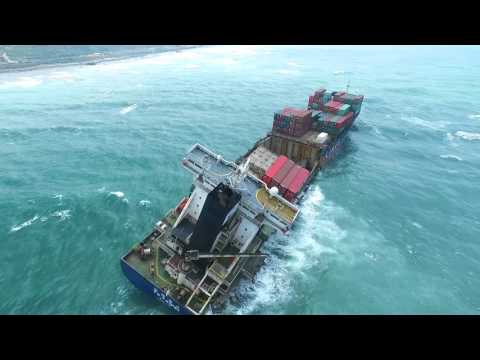 Disaster at Sea - Wrecked Cargo Ship | Taipei, Taiwan