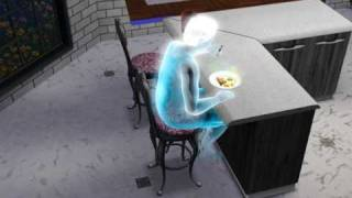 The Sims 3 - life after death, eating ambrosia