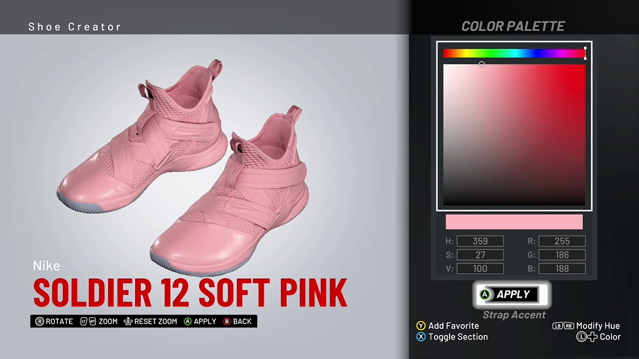 new concept 9fb9e a9fdc NBA 2K19 Shoe Creator - Nike Soldier 12