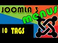 Joomla 3 Tutorials: How to use the Tags Menus