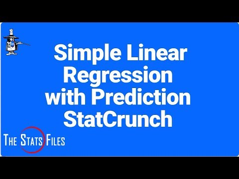 Simple Linear Regression, scatter plot, and Prediction of y with StatCrunch r-square