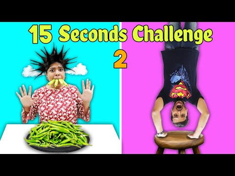 15 SEC CHALLENGE PART 2 | SUPER FUNNY CHALLENGE | HUNGRY BIRDS