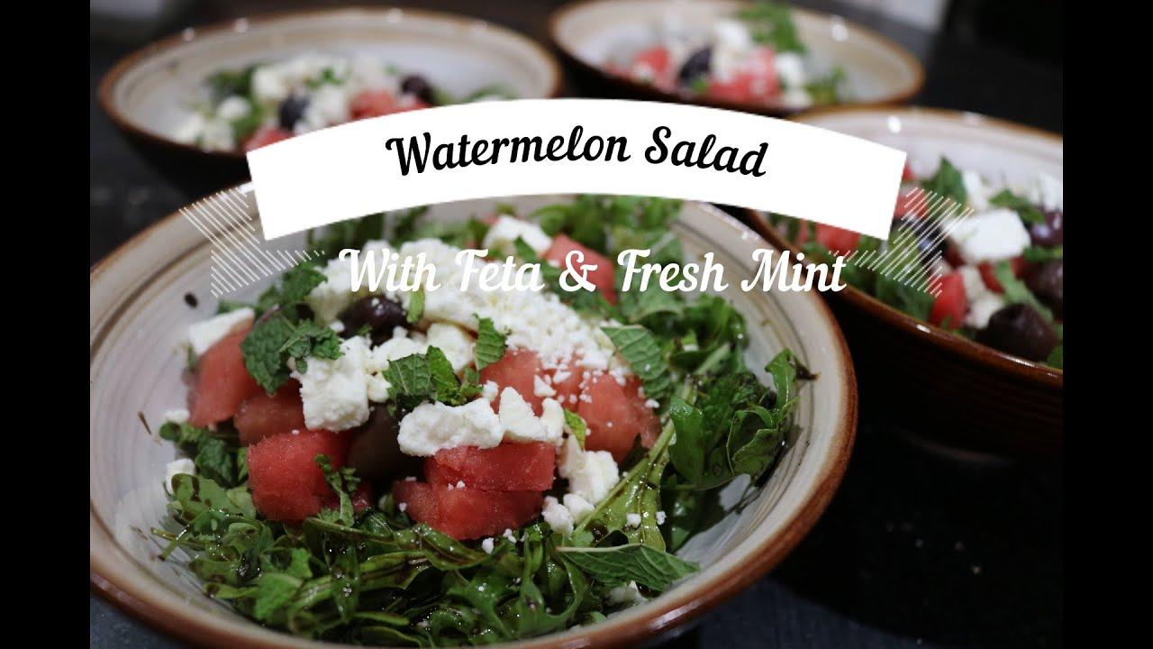 Watermelon Salad with Feta & Fresh Mint