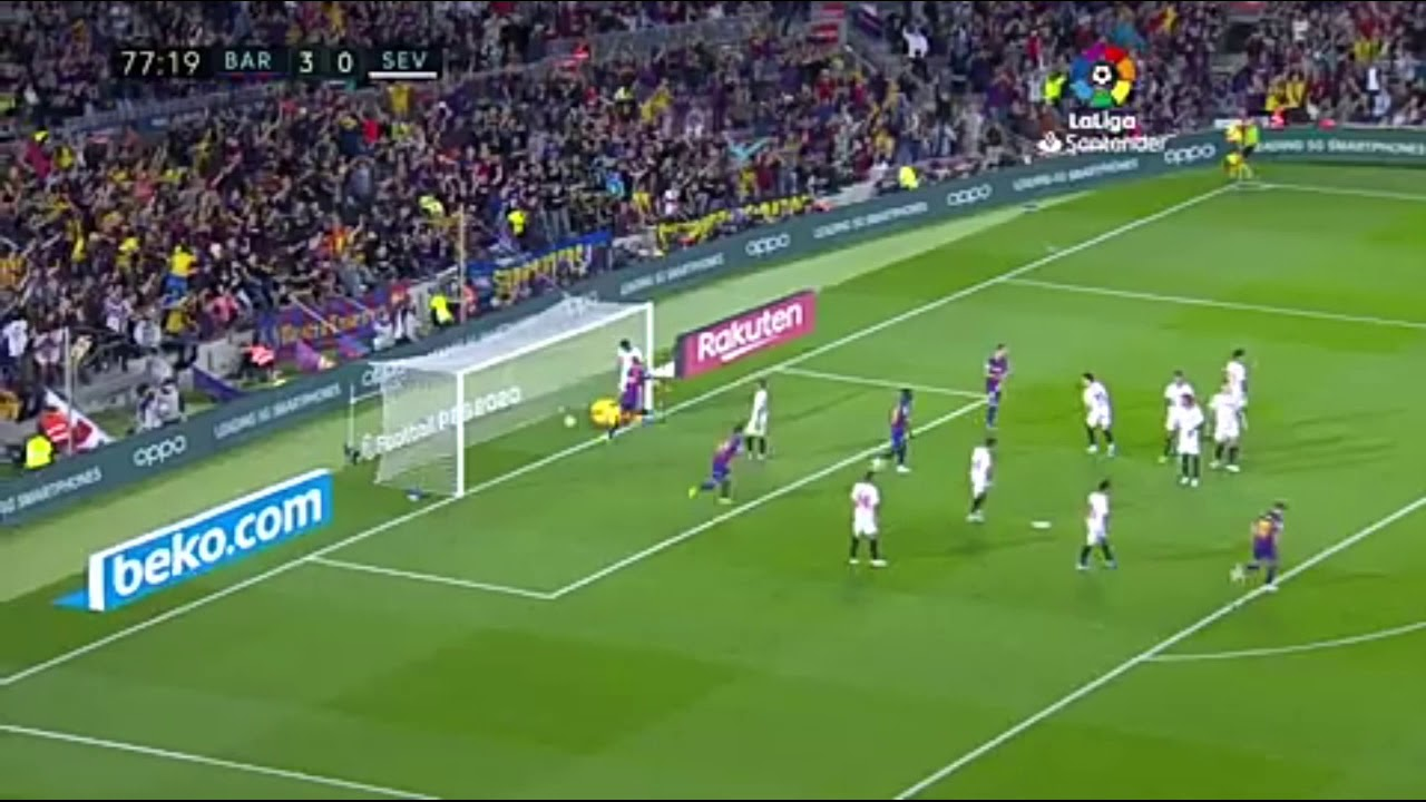 Lionel messi free kick goal against Sevilla.watch full hd