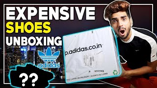 The most EXPENSIVE unboxing of this channel! Adidas original shoes unboxed| LAKSHAY THAKUR