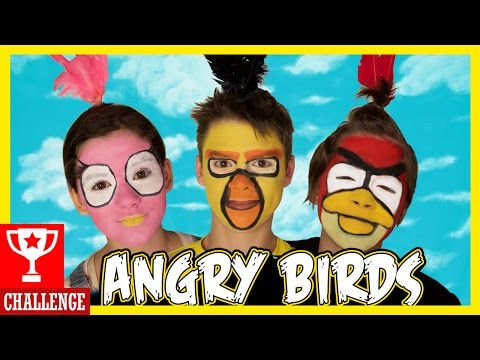 ANGRY BIRDS FACE PAINT CHALLENGE!  |  KITTIESMAMA