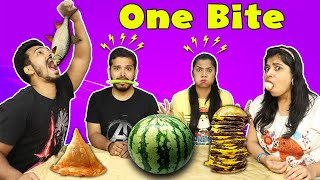 EXTREME ONE BITE EATING CHALLENGE | BIG BITE EATING COMPETITION