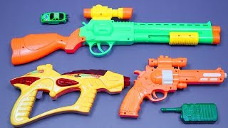 Guns Toys Equipment video for Kids! Box of Toys with Colorful Police Military Toy Guns Toys for Kids