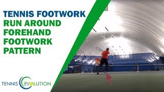 Tennis Footwork Pattern Analysis - Run Around Forehand Footwork Pattern