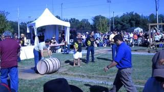 Barrel Rolling at the Bardstown Bourbon Festival (Men
