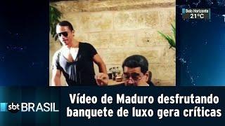 Vídeo de Maduro desfrutando banquete de luxo gera críticas na Venezuela | SBT Brasil (18/09/18)