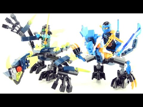 lego-compatible-dragons-part-2---nexo-knights-riding-dragon-toys---time-lapse-construction